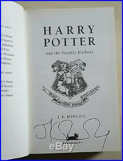 Autographed Harry Potter Deathly Hallows Book Signed JK Rowling First Edition