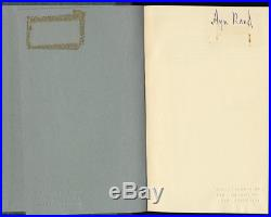 Ayn Rand Capitalism the Unknown Ideal FIRST LIMITED EDITION SIGNED. NEL 1966