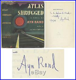 Ayn Rand Signed First Edition of''Atlas Shrugged'
