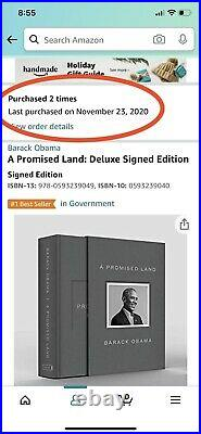 BARACK OBAMA SIGNED A PROMISE LAND DELUXE 1ST EDITION AUTOGRAPHED Pre-Order