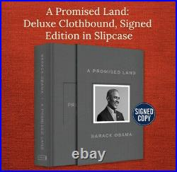 BARACK OBAMA SIGNED A PROMISE LAND DELUXE 1ST EDITION AUTOGRAPHED Sealed New