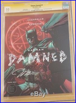 BATMAN DAMNED #1 1st Print Variant JIM LEE SS Signature Signed CGC 10 GEM MINT