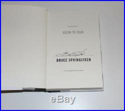 BRUCE SPRINGSTEEN SIGNED BORN TO RUN BOOK 1ST EDITION withCOA THE BOSS IN THE USA