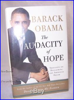 Barack Obama AUDACITY OF HOPE Signed FIRST EDITION 1ST PRINTING Certified COA