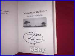 Barack Obama signed book first edition dreams from my father autograph