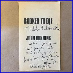 Booked to Die by John Dunning (First Edition/First Printing, Signed, Hardcover)