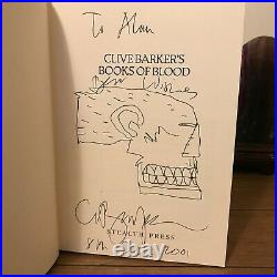 Books Of Blood, Clive Barker, Stealth Press, 1st Edition, SIGNED with DRAWING