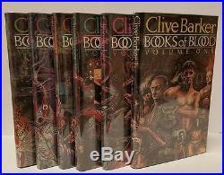 Books of Blood 1-6 by Clive Barker (Signed) First HC Editions- High Grade