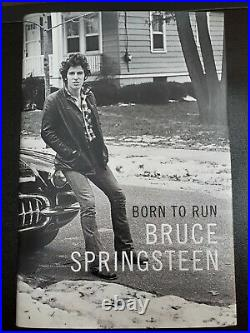 Born To Run, Bruce Springsteen Autobiography. Signed. 1st. Edition copy. Unused