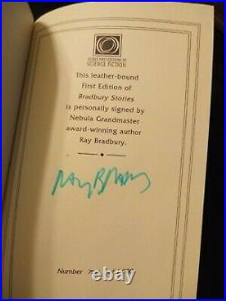 Bradbury Stores by Ray Bradbury 2003 Easton Press Leather Signed First Edition