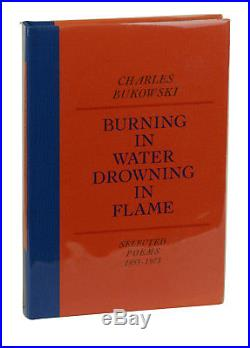 Burning in Water CHARLES BUKOWSKI SIGNED Presentation Copy First Edition 1974