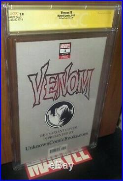 CGC 9.8 Venom 3 ss Signed Donny Cates & Ryan Stegman. 1st Knull. Kirkham Variant