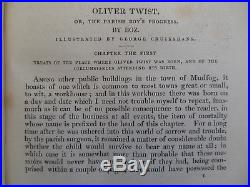 CHARLES DICKENS Oliver Twist (1837) True First Edition inc Cruikshank Autograph
