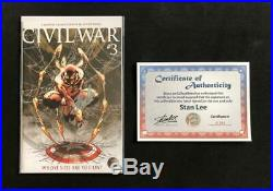 CIVIL War #3 Signed Stan Lee Wcoa Turner Variant 1st Iron Spider-man 1 300 Man
