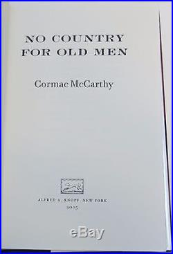 CORMAC MCCARTHY No Country for Old Men FIRST EDITION SIGNED BY ACTORS