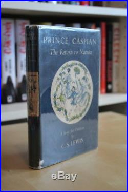 CS Lewis (1951) Prince Caspian Return to Narnia first edition and signed letter