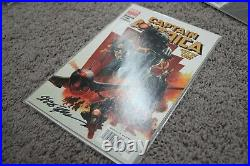 Captain America # 6 Variant NM 1st App Of The Winter Soldier Signed by Epting