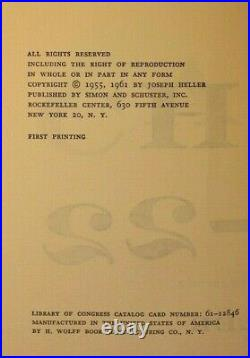 Catch-22 First Edition SIGNED Joseph Heller 1st Printing 1961