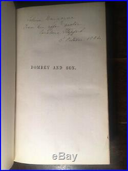 Charles Dickens Dombey And Son 1st/first Edition 1848 -fine Signed Binding