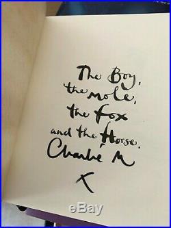 Charlie Mackesy The Boy The Mole The Fox and The Horse SIGNED 1st Edition