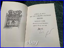 Charlie and the Chocolate Factory First edition Signed by Roald Dahl 1964 book