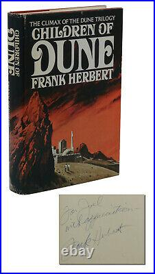 Children of Dune SIGNED by FRANK HERBERT First Edition 1st Printing 1976