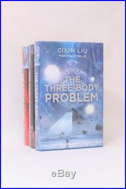 Cixin Liu Remembrance of Earth's Past Trilogy Signed First Editions