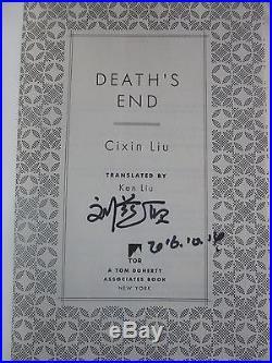 Cixin Liu,'The Three-Body Problem' SIGNED US first edition set 1st/1st, Hugo
