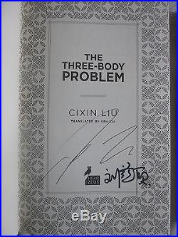 Cixin Liu, The Three-Body Problem trilogy SIGNED first edition 1st/1st, Hugo
