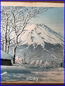 Clearing after a Snowfall by Kawase Hasui 1st Edition ORIGINAL Woodblock Print