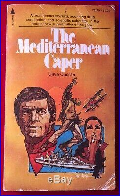 Clive CUSSLER / The Mediterranean Caper SIGNED PBO First Edition 1973