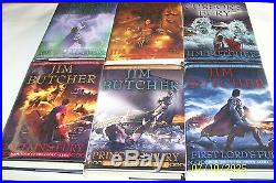 Codex Alera by Jim Butcher, 6 vol, 6 Signed 1st editions 1st printings, H/C, D/J