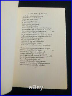 Collected Poems, 1909-1935 T. S. Eliot 1936 First Edition signed by the author