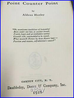 Collection of 6 Aldous Huxley First Editions, including one SIGNED COPY