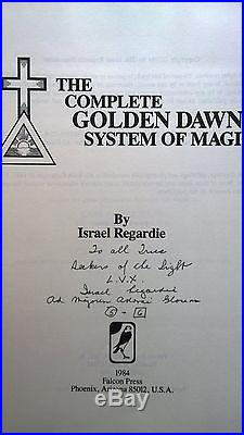 Complete Golden Dawn System Of Magic First Edition Signed by Israel Regardie