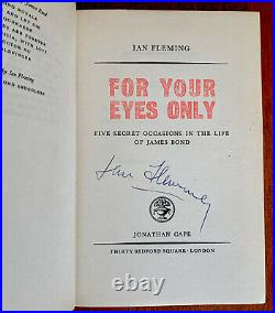 Complete James Bond Set In First Editions, Signed, Ian Fleming