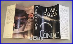 Contact-Carl Sagan 2 Books-SIGNED! -First Edition/1st Printing-1985-VERY RARE