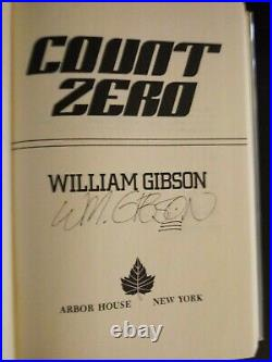Count Zero by William Gibson 1986 HCDJ First Edition/1st Printing SIGNED