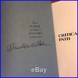 Critical Path, R. Buckminster Fuller (Signed, Limited First Edition, Hardcover)