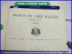 DOGS IN THE FIELD/RARE FIRST SIGNED LIMITED EDITION/1935/FOLIO/24 PLATES OF DOGS