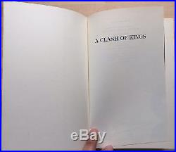 DOUBLE SIGNED A Clash of Kings First Edition 1/1 George R. R. Martin RARE