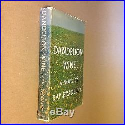Dandelion Wine by Ray Bradbury (First Edition, Signed, Hardcover in Jacket)