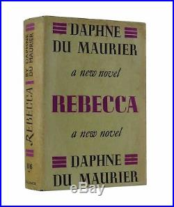 Daphne Du Maurier REBECCA First UK Edition 1938 SIGNED by DU Maurier RARE