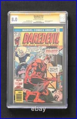 Daredevil #131 Variant Cgc Ss 8.0 Signed By Stan Lee 1st Bullseye Bronze Key 1