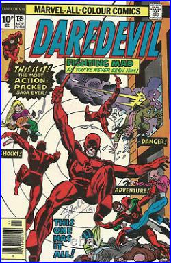 Daredevil #139 Comic Signed By Stan Lee With COA