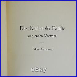 Das Kind in der Familie MARIA MONTESSORI SIGNED First Edition 1926 Education