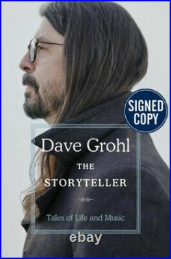Dave Grohl SIGNED BOOK The Storyteller 1ST EDITION Hardcover Nirvana PREORDER