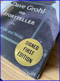 Dave Grohl SIGNED Book The Storyteller 1ST EDITION Hardcover Nirvana IN HAND