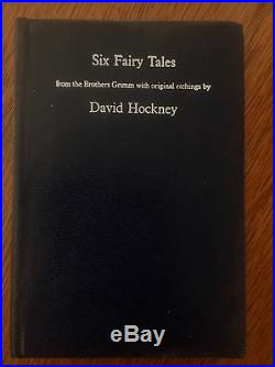 David Hockney Signed First Edition of Six Fairy Tales, Grimm, Illustrated