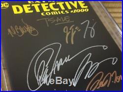 Detective Comics #1000 CGC 9.8 SS Black Variant Signed 12x 1st Arkham Knight